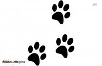 Dog Footprint Silhouette Art