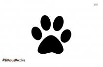 Kangaroo Footprints Silhouette