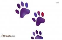 Cartoon Dog Paw Print Silhouette