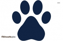 Dog Paw Print Silhouette, Clip Art