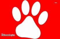 Dog Paw Print Silhouette Printable