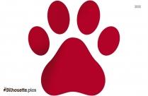 Dog Paw Silhouette Clip Art