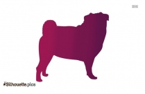 Happy Dog Side View Clip Art Silhouette