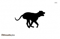 Running Dog Clipart Silhouette