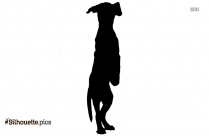 Sitting Dog Silhouette Image, Clipart