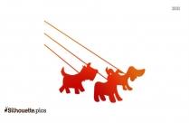 Walking Dog Clip Art Silhouette