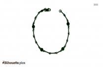 Dogbone Chain Bracelet Silhouette