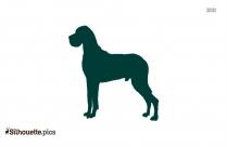 Afghan Hound Dog Silhouette