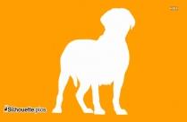 German Shepherd Dog Breed Silhouette