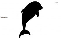 Dolphin Cartoon Silhouette Icon