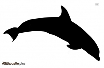 Dolphin Emoji Silhouette, Dolphin Diving Icon