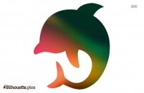 Dolphin Emoji Silhouette, Dolphin Diving Icon