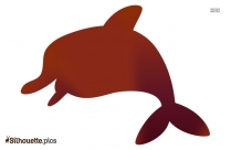 Dolphin Vector Silhouette Background