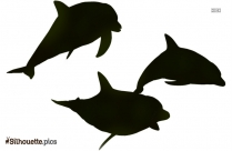 Dolphin Diving Silhouette Clipart