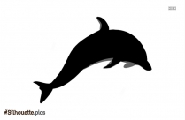 Black Dolphin Fish Silhouette Image