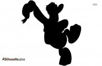 Daisy Duck Silhouette Free Vector Art