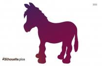 Donkey Silhouette Coloured Image