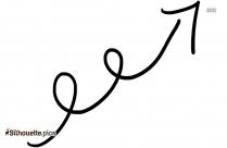 Doodle Arrow Clipart Image Silhouette
