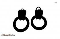 Tassel Earrings Silhouette Illustration