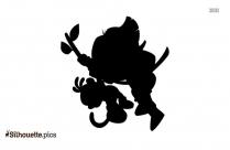 Simple Cartoon Dora Drawing Silhouette