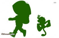 Dora And Boots Silhouette Free Vector Art