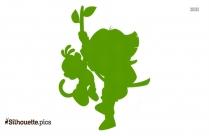 Cartoon Character Dora The Explorer Clipart Silhouette