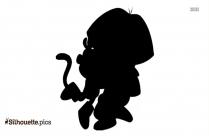 Dora And Buji Drawing Silhouette