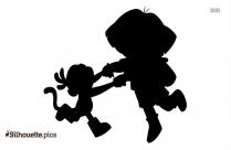 Dora The Explorer Silhouette Drawing