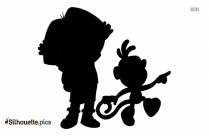 Free Dora The Explorer Characters Silhouette