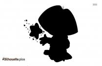 Dora Cartoon Silhouette Background