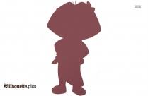 Happy Dora Silhouette Vector Image
