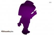 Dora And Buji Playing Silhouette Illustration