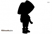 Dora Silhouette Free Vector Art, Clip Art