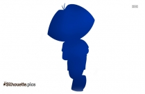 Dora And Boots Cartoon Silhouette Image