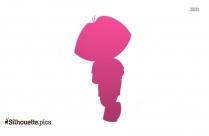 Dora The Explorer Silhouette Clipart, Vector Art