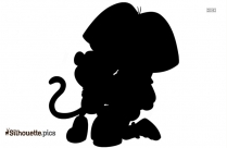 Cartoon Elf Image Silhouette