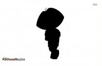 Dora The Explorer Silhouette Picture, Vector Art