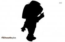 Dora The Explorer Silhouette Illustration Vector