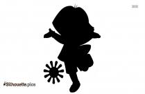Black Dora Cartoon Silhouette Image