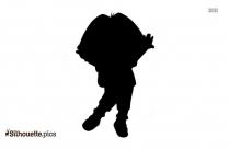 Happy Dora The Explorer Silhouette