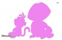 Adult Dora Cartoon Silhouette Image