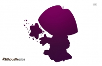 Black Gingerbread Man Silhouette Image