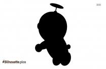 Cute Cartoon Anime Girl Silhouette