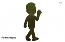 Nobita Cartoon Character Clipart Silhouette