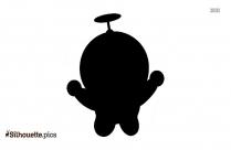 Baby Doraemon Silhouette Picture