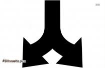 Double Forward Arrow Clipart Silhouette