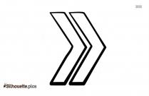 Double Arrow Silhouette Free Vector Art
