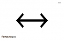 Double Horizontal Arrow Pointing To Both Sides Silhouette