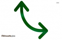 Double Arrow Silhouette Free Vector Art Image