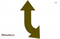 Split Arrow Silhouette Image